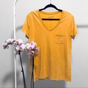 LIKE NEW | Universal Thread Yellow V-Neck T-Shirt